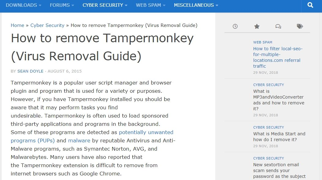 SaveFrom net Helper & TamperMonkey - PUPs? - Malware and Computer